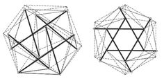 Comparison_of_icosahedron_tensegrity_and_polyhedron_by_Tibert.gif #bucky #fuller #buckminster #tensgetrity
