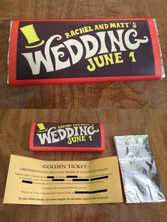Clever wedding invite