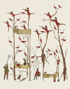2005 DZAMA1861.200.jpg 602 × 768 Pixel #hunter #dzama #shooting #marcel #birds #drawing #trees
