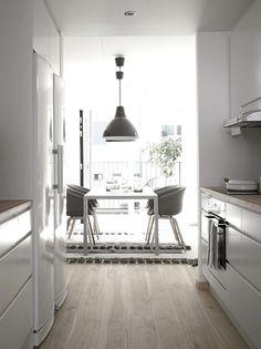 myidealhome:floor love (via emmas) #minimal #white #interior #clean #grey #kitchen #floor