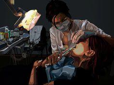 illustrations #vector #sako #chabukiani #tako #dentist #illusration