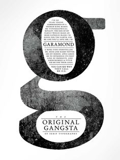 OG Garamond #typography #typeface #text #gangsta #original #garamond