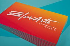 Love the gradient #typography #logo #business cards #lettering #elevarte