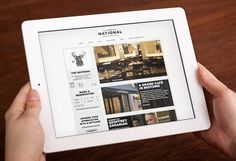 The National #branding #ipad #design #restaurant #app #layout #web #magazine