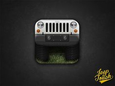 Jeep Wrangler App Icon iPhone / iPad #jeep #icon #ipad #design #iphone #app