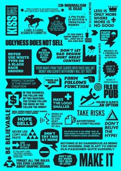Forget all the rules you ever learned about advertising and design #design #graphic #poster