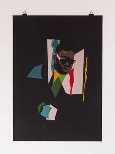 6 color screenprinted denim jacket inspired by Notorious B.I.G.'s Juicy printed on 370gr Fedrigoni Sirio Ultra Black #printmakingmoneygang