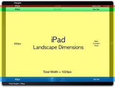 iPad Dimensions Landscape #ipad #dimensions #landscape