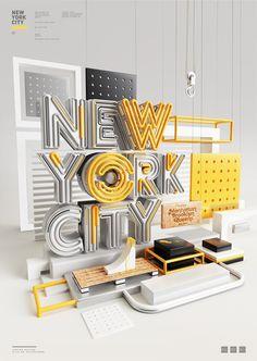 Typography 11. on Behance #new #city #york #typography