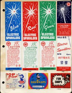 POP POP #vintage #fireworks #sparklers #pop #packaging