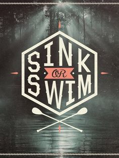 Typeverything.com Sink or Swim by Wesley Bird. #illustration #lettering #typography