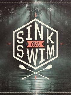 Typeverything.com Sink or Swim byWesley Bird. #illustration #lettering #typography