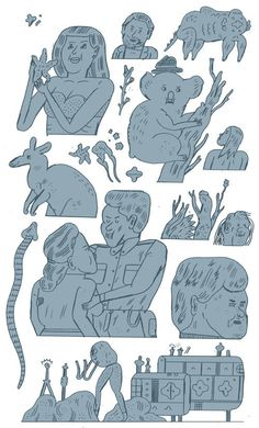 Drawings by Jon Boam