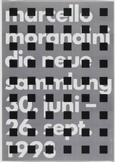 MoMA | The Collection | Pierre Mendell. Marcello Morandini, Die Neue Sammlung, 30. Juni- 26 Sept. 1993. 1993 #pierremendell #poster #typography