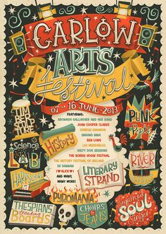Carlow Arts Festival – Poster on Typography Served | Inspiration DE