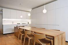 Elegant Ljubljana Apartment with Geometric Lines by Lidija Dragisic Studio 360 - #kitchen