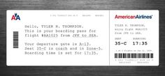 Redesigning the Boarding Pass - Journal - Boarding Pass /Â Fail #boardingpass