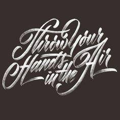 Through your hands in the air by Neil Secretario #lettering #design #typography