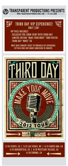Hangout with Third Day this weekend #subscribe #hangout #design #emailer #transparent #production #newsletter