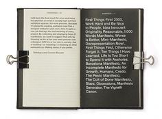 Book | Manifesto #manifesto #print #book