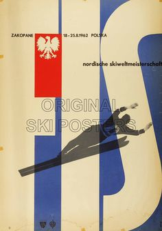 Zakopane FIS Ski World Championships 1962. Offset Lithograph in colours 1961, printed in Poland for the FIS.