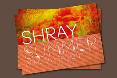 Chaiti Mehta Design | Shray The Store #invite #script #print #design #graphic #orange #shray #summer #flower #sanskrit #typography