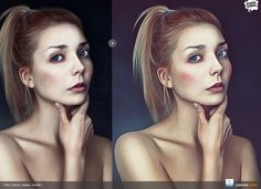 Realistic Painting Effect #inspiration #portrait #painting