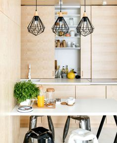 Apartment with a Custom-Made Plywood Interior - InteriorZine #decor #interior #home