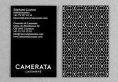 Camerata Lausanne (New) : DEMIAN CONRAD DESIGN #card #bussiness #identity #blackwhite