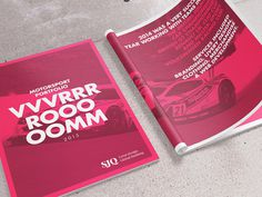 VVVRRRROOOOMM // Cover & Intro #flat #red #magazine #print #portfolio #layout #studio #web #type #racing #car #brochure