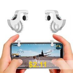 Mobile #Gamepad #Trigger #for #PUGB #Sensitive #Shooting #- #WHITE