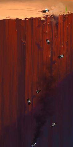 Imagi:nation #illustration #painting #cars #suicide #oblivion