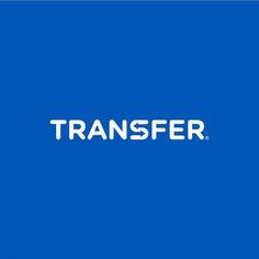 Transfer logo design by Paulius Kairevicius