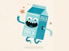 Milk #illustration #milk #character desgin