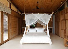 Tropical Resort With Sustainable Decor on Con Dao Island - #decor, #interior, #bedroom