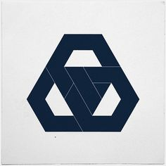 #330 Hexagon knot – The final piece of hexagon week. Something definitely hexagon less tomorrow. – A new minimal geometric composition e