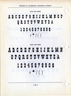 Old Town Type Specimen