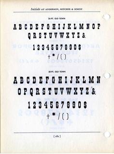Old Town Type Specimen #type #specimen #typography