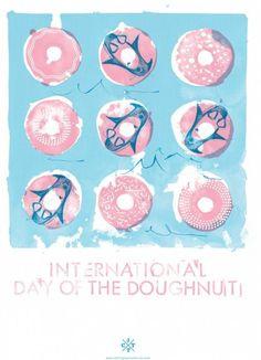 International Doughnut Day - Natasha Muhl of Nathasha Muhl Illustration.