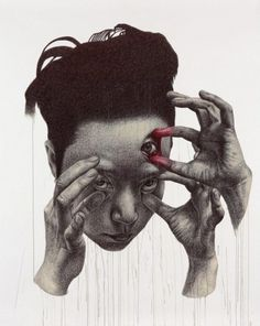 spunky zoe | Tumblr #face #art