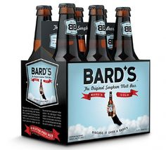 Bard's beer packaging design by Briana Auel #beer #packaging #bardsbeer #beerpackaging #brianaauel