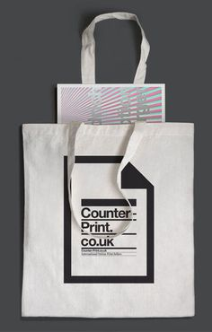 counter print bag #typography