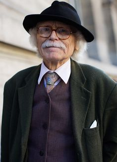 The Sartorialist #old #sartorialist #portrait #street #moustache
