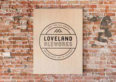 Loveland Ale Works Poster #logo #design #typography