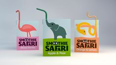 Luke Thompson • Graphic Design • Smoothie Safari #smoothie #conception #drink #package