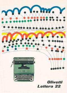 Olivetti Lettera 22 ad // Designed by Giovanni Pintori 1956 #olivetti #design #graphic #advertising #posters