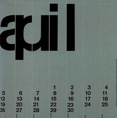 3709058932_0d075365f6.jpg (494×500) #typography #helvetica #minimal #calendar