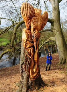 Beautiful/Decay Artist & Design #wood #forest #sculpture #carved