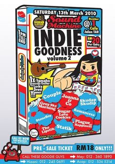 Indie Goodness Volume 2 by ~nimbusnymbus #cereal #gig #nimbus #poster