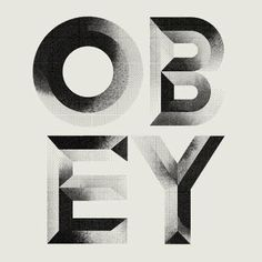Obey #handcrafted #lettering #design #graphic #quality #technical #typography
